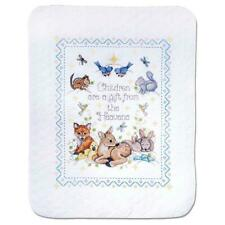 Design Works™ Gift From Heaven Baby Quilt Stamped Cross-Stitch Kit
