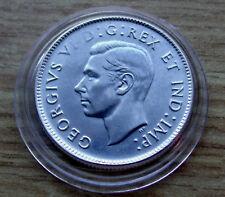 Rare ERROR CHOICE AU+ 1945 CANADA 25 Cents George,  ERROR FILLED DIES VI D:
