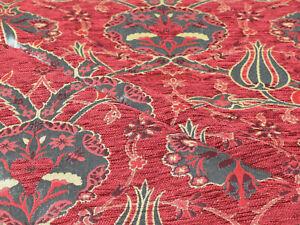 Oriental fabric ethnic fabric upholstery tapestry kilim boho decor red fabric