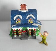 "Lotus Barn Style Christmas Village House  Approx 4"" x 4"" x 4"" Very Nice Shape"