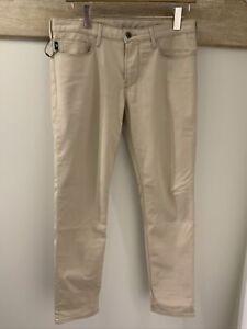 "Emporio Armani J06 Slim Fit Beige Jeans, Size 32"" Regular. RRP £155"