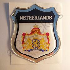 Autocollant Pays-Bas Emblème Armoiries Blason Adhésif Pays-Bas 3D Résine Voiture