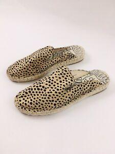 DV Dolce Vita Shoes Suede Loafer Mule, Leopard Flats Loafer Sz 7.5 Slip On