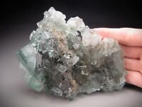 Clear Green Fluorite Crystals, Huangshaping Mine, China