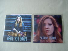 SABRINA PARKER job lot of 2 promo CDs Write You Down Babysit Your Happiness