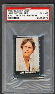 1977 Topps Star Wars Burger Chef Luke Skywalker PSA 6 EX-MT  Rare