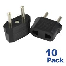 10 Pack Travel Outlet Ac Power Plug Adapter Converter Usa Us to European Euro Eu