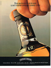 PUBLICITE ADVERTISING 074  1989  CHIVAS REGAL   whisky 12 ans d'age