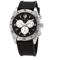 Movado Sport 0607438 Black Rubber Silver Steel Chronograph Men's Watch