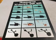 1986 HUSQVARNA  CHAIN SAWS Original Sales Brochure 37 , Electric , 24R , 16R