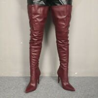 Custom-made Sexy Women Overknee High Thigh Boots Pointy Toe Stilettos Heel Shoes