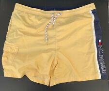 Vintage Yellow Navy Blue Tommy Hilfiger Bathing Suit  Large