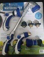 Member's Mark Heavy Duty Garden Watering Set 7 Pc Nozzle Water Wand New