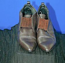 American Eagle, Vintage, Women's, Low-Heel, Brown, Booties, Leather, 9