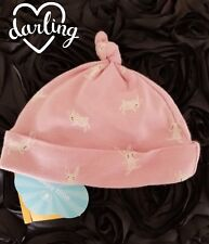 NWT Gymoree White Bunny Rabbit Pink Easter Beanie Cap Hat  3-6 months