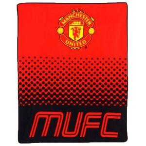 Printed Manchester United FC Fade Fleece Blanket Sports Club Blanket