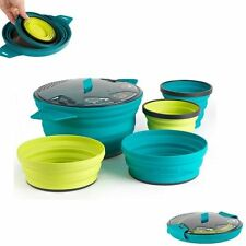 Sea to Summit X-set 31 5pc Cook and Eat Set (pacific Blue Pot Lime Bowl & Mug