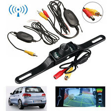 Car Rear View Backup IR Night Vision Camera & Wireless AV Transmitter Receiver