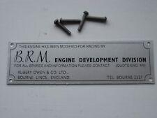 BRM ENGINE PLATE.LOTUS TWINCAM.LOTUS TWIN CAM.LOTUS.CROSS FLOW.XFLOW.BRM.B.R.M