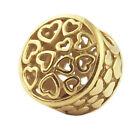 PANDORA Loving Sentiments Openwork Silver Charm 14K Gold Plated 791980 Genuine