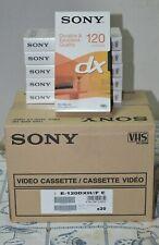 LOTTO20 VHS SONY 120 MINUTI NUOVE-SIGILLATE CARTONE INTERO MAI APERTE