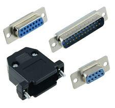 Male or Female D Sub Connectors Plug Socket Solder Lug Contacts