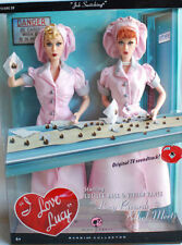 2004 Mattel I love Lucy Lucy and Ethel Buy Job Switching Chocolate Barbie Doll
