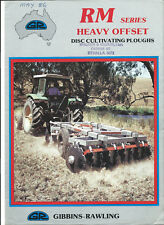 GIBBINS-RAWLING RM SERIES HEAVY OFFSET DISC PLOUGHS 4 page sales brochure