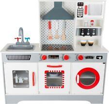 Kinderküche Premium, moderne Spielküche, Waschmaschine, Kochfeld, Mikrowelle