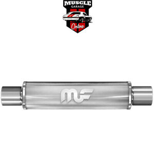 """14416 - 2.5"""" Inlet/Outlet 4""""Round x 14""""Long Body - Stainless Steel Magnaflow Muf"""