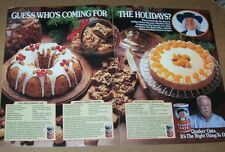 1989 print ad-Quaker Oats Oatmeal cake cheesecake cookie recipes Wilford Brimley