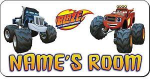 Personalised 'Blaze And The Monster Machines' Aluminium Door Name Plaque