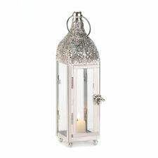Polished Metal Candle Lantern