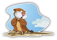 Groundhog Cartoon Car Bumper Sticker Decal 5'' x 3''