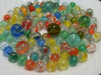 100 Fun Vintage Classic Cats Eye Marbles Multicolor Red Blue Yellow Green #2