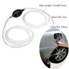 Fuel Primer Hand Siphon Pump Gas Diesel Liquid Transfer Transparent Hose Pipe