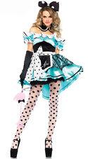 Deluxe Blue Lolita Alice In Wonderland Costume Ladies HALLOWEEN Maid Fancy Dress