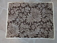 Tommy Hilfiger Standard Pillow Sham Reversible Brown White Paisley