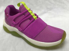 BNIB Clarks Girls Buzzed Skip Pink Leather/Material Trainers with Flashing Soles