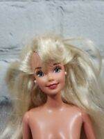 Vintage 90's Mattel Blonde Barbie Doll Reconditioned Hair Indonesia