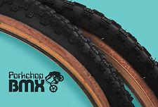 "Kenda Comp 3 III old school BMX skinwall gumwall tires 20"" STAGGERED PAIR BLACK"