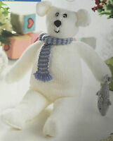 KNITTING PATTERN Sirdar Klaus the Polar Bear Christmas Toy 43cm tall PATTERN