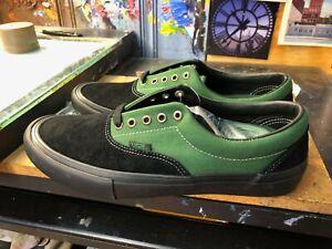 Vans Era Pro Black Alpine Green Suede Canvas Extra Laces Size US 8.5 Men New