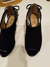 NWT BLACK SUEDE MICHAEL KORS WOMEN'S HIGH HEEL SHOES SIZE 6 1/2 M