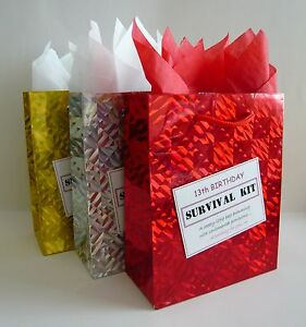 FEMALE 13th Birthday SURVIVAL KIT Teenager Novelty Present Humorous Gift Idea