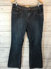 Motto Women's Size 14 Boot Cut Blue Jeans w Red & Gold Stitching