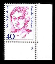 BUND Frauen   40 Pf** postfrisch, Mi. 1331, Eckrand u.r. Formnummer 3