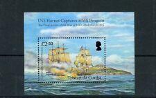 Tristan da Cunha 2015 MNH USS Hornet Captures HMS Penguin 1v S/S Ships War 1812