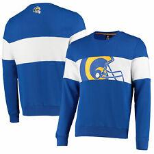 Los Angeles Rams Cut And Sew Crew Neck Sweatshirt - Navy - Mens