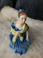 "Royal Doulton ""ADRIENNE"" Figurine HN 2304 Mint condition Blue dress young lady"